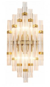 Glass & Brass - Prisms Wall - duży kinkiet  45cm